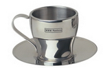 Firenze Cup and Saucer , Stainless Steel Mugs, Cups and Mugs