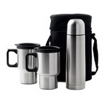 2x Mugs and Vacuum Flask, Coffee and Tea Gear, Beverage Gear