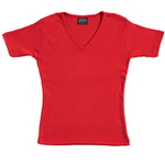 Ladies' Ribbed T-Shirt , Clothing