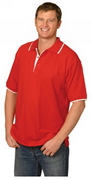 Mens' Contrast Pique Polo , Clothing