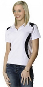 Ladies' TrueDry Contrast Polo , Cool-Dry Shirts, Clothing