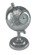 Globe Desk Clock , Executive and Office Gifts