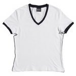Ladies Spandex V-Neck T-Shirt , Clothing
