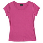 Ladies Scoop Neck T-Shirt , Clothing