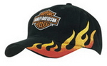 Flame Embroidered Cap , Race Pattern Caps, Car Promotion Gear