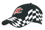 Cotton with Checks Cap , Race Pattern Caps, Car Promotion Gear