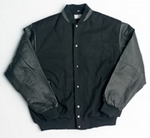 Melton Wool Baseball Jacket , Jackets