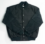 Baseball Jacket with Suede Sleeves , Jackets